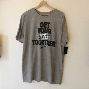 """Nike NWT Nike Grey """"The Nike Tee"""" Shirt"""